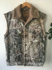Levi's RealTree Sherpa Lined Camo Vest Men's S Camouflage jacket real tree