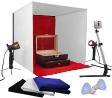 AW Photo Studio 24' Photography Light Tent 60cm Cube Lighting In A Box Kit W/