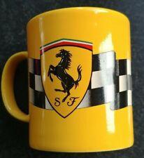 Ferrari - Kaffee Tasse gelb - Mug - licenced product 1996 - Staffordshire - rar