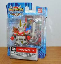 "DIGIMON FUSION SHOUTMON X4 ACTION FIGURE MOC BANDAI 2013 1.75"" TALL MONSTER"