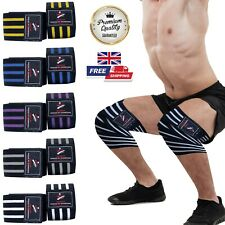 OneUP Knee Wraps Weight Lifting Bandage Straps Guard Pads Power lifting Brace