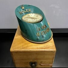 Vintage Rolex So Rare Desk Clock Hoof Time To The Second With box 1950's