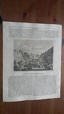 1838 L'Album Belle Arti: Veduta Anfiteatro scavato nel masso a Petra