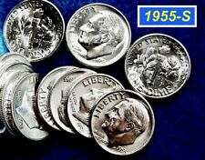 1955-S  DIME ⭐️ 90/% Silver ⭐️  UNC  ⭐️ •3042//3b