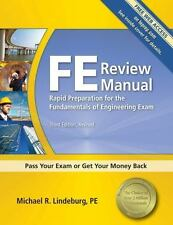 FE Review Manual: Rapid Preparation for the Fundamentals of Engineering Exam, 3r