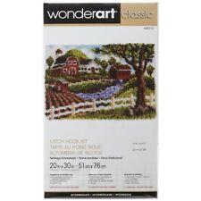"""Wonderart Classic Latch Hook Kit Rug Making Kit - Homestead - 20x30"""""""