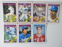1988 Topps Traded Los Angeles Dodgers Team Set of 7 Baseball Cards