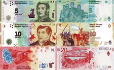ARGENTINA - Lotto 3 banconote 5/10/20 pesos FDS - UNC