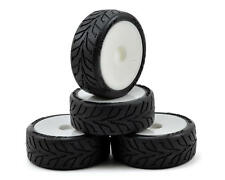 Schumacher 12mm Hex Shimizu Pre-mounted Rain Racing Tires (4) (White) (Soft)