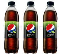 3 x PEPSI Lime Flavor Soda Soft Drink 500ml