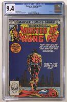 Master of Kung Fu #125 Last Issue CGC 9.4 NM WP Marvel Comics - MCU Movie Soon