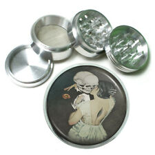 Kissing Skeleton Rs1 Themed Aluminum Herb Grinder 63mm 4 Piece Hand Mueller