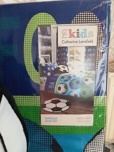 Catherine Lansfield football design single duvet set