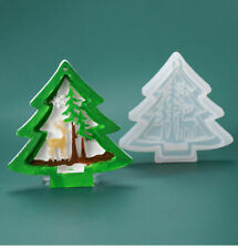 Christmas Tree Hanging ELK Silicone Jewelry Mold Resin Epoxy Mould Casting Craft