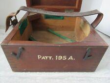 Antique Royal Navy Patt.195A Boat Compass Dovetailed Box