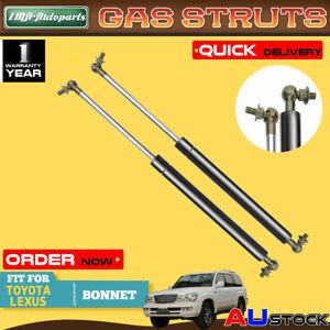 2x For Toyota Landcruiser Lexus LX470 100 Series 1998-2007 Bonnet Gas Struts