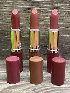 X3 Clinique LIP COLOR + PRIMER (Lipstick) 13 LOVE,14 PLUM, 02 BARE POP FULL SIZE