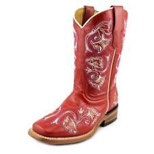 Calzado de niña Botas, botines rojas de piel