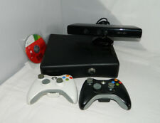 XBox 360S Slim console 250 GB + KINECT +2 controllers + 1 GAME + WARRANTY (A139)