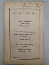 1965 Railway Associations Union Station Telephone Directory
