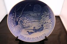 Royal Copenhagen 1970 B&G Pheasants in the Snow at Christmas Collector Plate