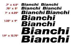 BIANCHI   BICYCLE  VINYL CUT DECALS (10)  $13.79  FREE SHIPPING   CHOOSE COLOR