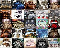 3D Images Bedding Set Duvet Set 1 Quilt Cover 1 Fitted Sheet 2 Pillow case
