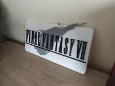 enseigne final fantasy 7 à accrocher au mur collection gaming display