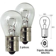 Ampoule Clignotant pour Citroen C1 - 12V 21W Culot BAU15S PY21W Blanc - 833