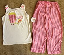 Gymboree NWT Queen of Pop Popcorn 2-piece Tank Capris Pajamas Gymmies PJ L/10-12