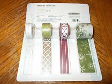 Creative Memories Paper Ribbon  ~ NOEL  ~ 4 Rolls 5 Ft Each ~Christmas ~