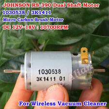 JOHNSON RS-390 DC Motor DC12V~18V 10700RPM High Speed Dual Shaft Carbon Brush