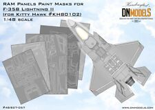 F-35B RAM Panels Paint Mask Set designed for Kitty Hawk kits 1/48 by DN Models