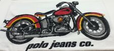 Ralph Lauren POLO Jeans Co Large Beach Towel Motorcycle Made USA