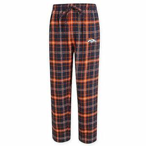 NFL Denver Broncos Men's Flannel Plaid Pajama Pant with Team Logo - M