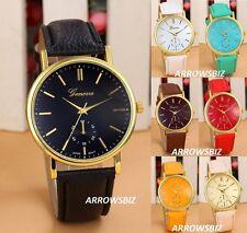 New Ladies Fashion Analog Wrist Watch Leather Strap Quartz Various Colours