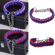 Dog Collar Nylon Half Check Choke Collars Chain Pet Training Walk The Dog JI