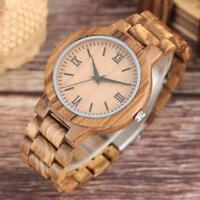 Bamboo Wooden Watch Bamboo Wirstwatch Bracelet Analog Quartz Adult Wood Watches
