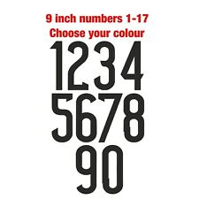 Football Shirt Numbers Iron On Heat Pressed