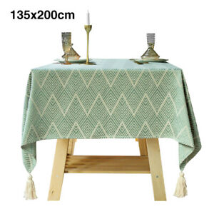 With Tassels Wedding Jacquard Weave For Rectangle Tables Accessories Table Cloth