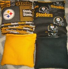 Set Of 8 Pittsburgh Steelers Cornhole Bags - Quality - new design
