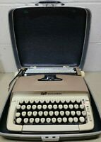 Vintage 1965 SCM Smith Corona Galaxie Typewriter - Brown Tan with Case.  WORKS!