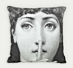 Fornasetti Original T&V Pillow Cushion SILENZIO made in Italy