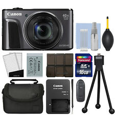 Canon PowerShot SX720 HS 20.3MP Digital Camera 40x Optical Zoom Black + 16GB Kit