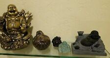 "BUDDHA HINDU meditating miniature statues figurines LOT of 5 buddhism 1"" to 6"""