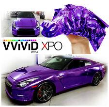 "1ft x 60"" Purple supercast chrome vinyl car wrap sheet roll film adhesive decal"