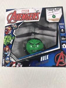 Marvel Avengers Hulk IR UFO Ball Helicopter Flying Hand Controls FUN
