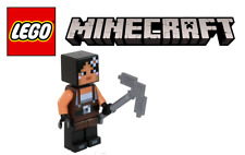 New Authentic Minecraft Girl Special Skin with Stone Pick Axe Lego Minifigure