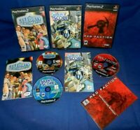 Lot of 3 PS2;Red Faction,Silent Scope,Celebrity Deathmatch, w/Manuals,VG,Free SH