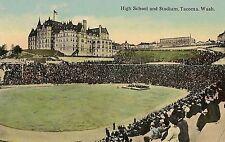 High School and Stadium in Tacoma WA Postcard